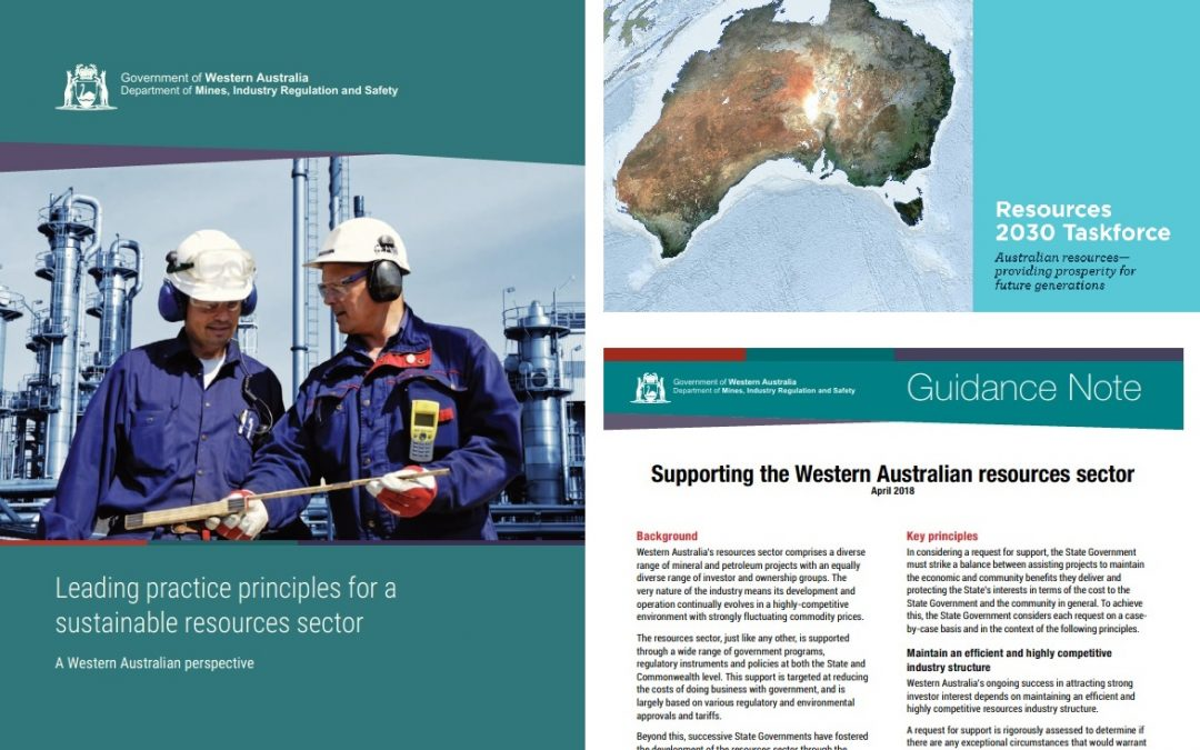 WA and National Policy Guidance on Extractives Regulation